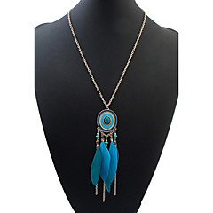 Women's Girls' Pendant Necklaces Jewelry Jewelry Resin Feather Alloy Basic Unique Design Dangling Style Tassel Friendship Punk Adjustable