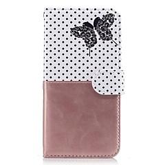 voordelige Hoesjes / covers voor Xiaomi-Voor xiaomi redmi notitie 3 3s case cover kaarthouder portemonnee met tribune flip patroon full body case vlinder hard pu leer