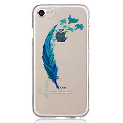 Для яблока iphone 7 плюс 7 перо полупрозрачный узор чехол задняя крышка чехол мягкий tpu iphone 6s плюс 6 плюс 6s 5 5s se
