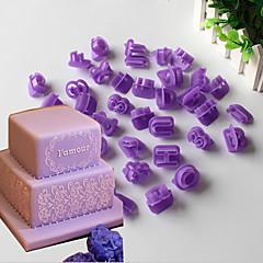 Skimmel nummerbog til kage til cookie plastic valentins dag diy miljøvenlig halloween
