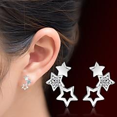 preiswerte Ohrringe-Damen Kristall Ohrstecker - Krystall Stern Silber Für Weihnachts Geschenke / Hochzeit / Party