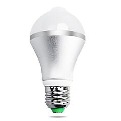 7W B22 E26/E27 Ampoules LED Intelligentes A60(A19) 14 diodes électroluminescentes SMD 5630 Capteur infrarouge Capteur de corps humain