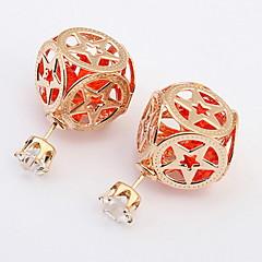Dames Oorknopjes Druppel oorbellen Ring oorbellen imitatie Diamond Basisontwerp Uniek ontwerp Logostijl Vriendschap Rock Klassiek