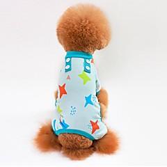 お買い得  猫の服-ネコ 犬 Tシャツ スウェットシャツ ジャンプスーツ パジャマ パンツ 犬用ウェア Stars グレー ブルー ピンク コットン コスチューム ペット用 男性用 女性用 カジュアル/普段着