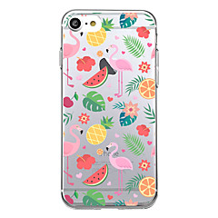 billige Dagens Tilbud-Til iPhone X iPhone 8 Etuier Ultratyndt Mønster Bagcover Etui Flamingo Frugt Blødt TPU for Apple iPhone X iPhone 8 Plus iPhone 8 iPhone 7