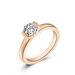 お買い得  指輪-女性用 合金 ステートメントリング - ファッション ローズゴールド リング 用途 結婚式 / オフィス&キャリア