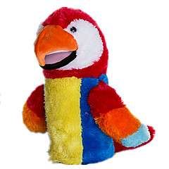 preiswerte -Marionetten Handpuppe Spielzeuge Tier Parrot Niedlich lieblich Plüsch Kind Stücke