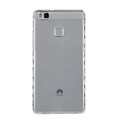 Недорогие Чехлы и кейсы для Huawei серии Y-Кейс для Назначение Huawei P9 / Huawei P9 Lite / Huawei P8 Прозрачный Кейс на заднюю панель Однотонный Мягкий ТПУ для P10 Plus / P10 / Huawei P9 Lite