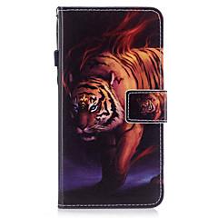 Недорогие Кейсы для iPhone 7 Plus-Кейс для Назначение Apple iPhone X iPhone 8 Бумажник для карт Кошелек со стендом Флип Магнитный С узором Чехол Животное Твердый Кожа PU