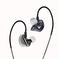 Jies x6 in-ear headset beweging via draad met mic mobiele telefoon algemene doel