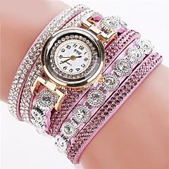 voordelige Dameshorloges-Dames Kwarts Armbandhorloge imitatie Diamond Leer Band Glitter / Modieus Zwart / Wit / Zilver