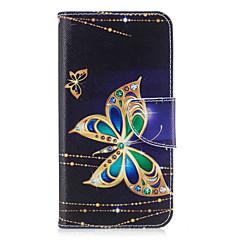 Для huawei p10 lite p8 lite (2017) телефон корпус pu кожа материал большой узор бабочки окрашенный p10 p9 lite p9 y5 ii честь 6x