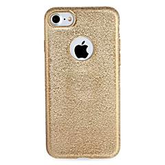 Недорогие Кейсы для iPhone-Кейс для Назначение Apple iPhone 7 Plus iPhone 7 Покрытие Кейс на заднюю панель Сплошной цвет Сияние и блеск Мягкий ТПУ для iPhone 7 Plus