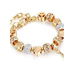 preiswerte Armbänder-Damen Strang-Armbänder - vergoldet Freunde Luxus, Dehnbar, Modisch Armbänder Gold Für Weihnachten / Weihnachts Geschenke / Hochzeit