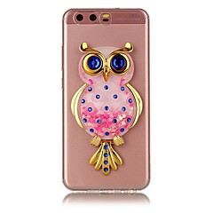 Til huawei y5 y6 ii tilfælde cover ugle pulver quicksand tpu materiale diy stent telefon taske p10 p9 p8 lite plus (2017)