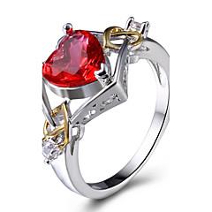 preiswerte Ringe-Damen Synthetischer Diamant Statement-Ring / Ring - Kupfer, Platiert, Glas Personalisiert, Luxus, Klassisch 6 / 7 / 8 Verschiedene Farben Für Weihnachts Geschenke / Hochzeit / Party