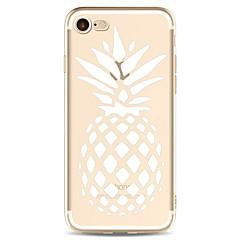 Назначение iPhone X iPhone 8 Чехлы панели Прозрачный С узором Задняя крышка Кейс для Фрукты Мягкий Термопластик для Apple iPhone X iPhone