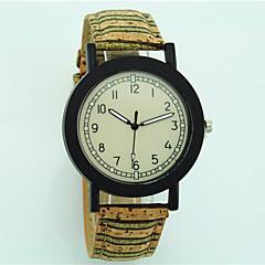 preiswerte Tolle Angebote auf Uhren-Damen Armbanduhr hölzern Leder Band Blume / Freizeit / Modisch Beige / Ein Jahr / Tianqiu 377