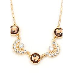 preiswerte Halsketten-Damen Stränge Halskette - Krystall Einzigartiges Design, Modisch, Euramerican Weiß, Braun, Hellblau Modische Halsketten Für Party
