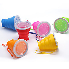 abordables Salud durante el Viaje-Tazas de Viaje / taza Plegable Utensilios de Viaje para Comida y Bebida Gel de Sílice 9*8/4.5cm cm