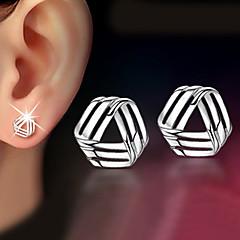 preiswerte Ohrringe-Damen Geometrisch Ohrstecker - Zierlich, Klassisch Silber Für Weihnachts Geschenke / Hochzeit / Party