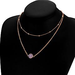 preiswerte Halsketten-Damen Kreisförmig Anhänger Stil Halsketten Schmuck Aleación Halsketten . Weihnachts Geschenke Hochzeit Party Besondere Anlässe Geburtstag