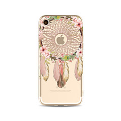 olcso iPhone 4s / 4 tokok-Case Kompatibilitás Apple iPhone X iPhone 8 Plus Átlátszó Minta Fekete tok Álomfogó Puha TPU mert iPhone X iPhone 8 Plus iPhone 8 iPhone