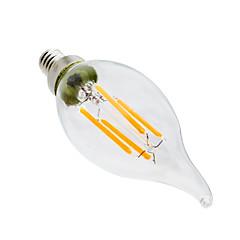 halpa LED-lamput-YWXLIGHT® 4W 300-400 lm E12 LED-kynttilälamput CA35 4 ledit COB Himmennettävissä Koristeltu Lämmin valkoinen AC 110-130V