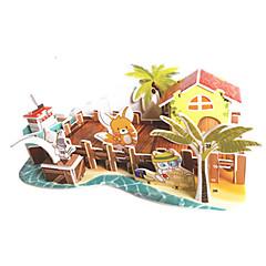 voordelige -3D-puzzels Legpuzzel Modelbouwsets Beroemd gebouw DHZ Hard Kaart Paper Klassiek Anime Cartoon Kinderen Unisex Geschenk