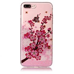Назначение iPhone X iPhone 8 Чехлы панели IMD С узором Задняя крышка Кейс для Сияние и блеск Цветы Мягкий Термопластик для Apple iPhone X