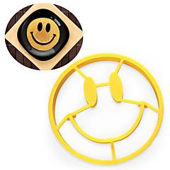 halpa -Bakeware-työkalut Silkonikumi Lapset / Leivonta Tool / Creative Kitchen Gadget Kakku / Cookie / Egg Pyöreä kakku Muotit 1kpl