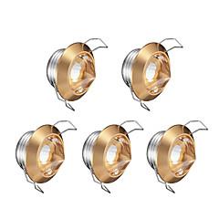 halpa Sisävalaisimet-Upotetut valaisimet Lämmin valkoinen Kristalli LED 5 kpl