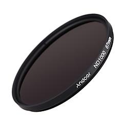 Andoer 67mm nd1000 10 stopfader neutrale dichtheidsfilter voor Nikon Canon DSLR camera