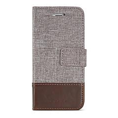 Недорогие Кейсы для iPhone 6 Plus-Кейс для Назначение Apple iPhone 8 / iPhone 8 Plus Кошелек / Бумажник для карт / со стендом Чехол Однотонный Твердый Кожа PU для iPhone 8 Pluss / iPhone 8 / iPhone 7 Plus