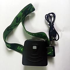 preiswerte Stirnlampen-Stirnlampen LED 300 lm 1 Modus LED Mini Wiederaufladbare Batterie Infrarot-Sensor G-Sensor Notfall Camping / Wandern / Erkundungen Für