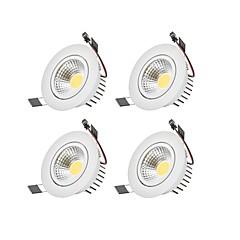 tanie Oświetlenie wewnętrzne-Oświetlenie downlight LED Ciepła biel Zimna biel LED Zawiera żarówkę 4 sztuki