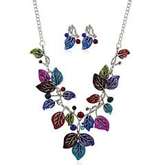 Жен. Ожерелье / серьги Цветочный дизайн В виде подвески Цветы Цветочный принт Богемия Стиль Металлический сплав Стразы Сплав В форме