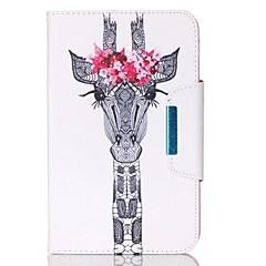 Недорогие Чехлы и кейсы для Galaxy Tab 4 10.1-Кейс для Назначение SSamsung Galaxy Вкладка 9,7 Бумажник для карт Кошелек со стендом Флип Магнитный Чехол Животное Твердый Кожа PU для