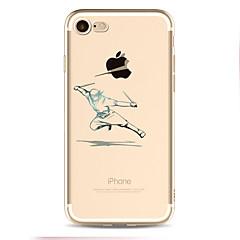 Назначение iPhone X iPhone 8 Чехлы панели С узором Задняя крышка Кейс для Композиция с логотипом Apple Мягкий Термопластик для Apple