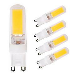 お買い得  LED 電球-5個 4W 300-350lm G9 LED2本ピン電球 T 1 LEDビーズ COB 温白色 / ホワイト 220V / 110V