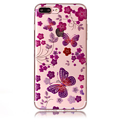 Case for apple iphone 7 plus 7 phone case tpu материал imd процесс бабочка шаблон hd флеш-память телефон корпус 6s плюс 6 плюс 6s 6 5s 5