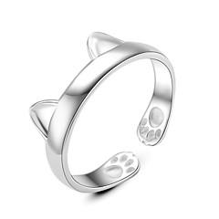 Damen Ring Schmuck Kreisförmiges Kreis Freundschaft Euramerican Simple Style Klassisch Silber Runde Form Schmuck FürHochzeit