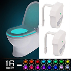 2 pcs YWXLight® IP65 16 Colors Motion Activated Toilet Night light Fit Any Toilet-Water-resistant Bathroom Night Light Easy Clean