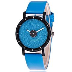 Dames Modieus horloge Kwarts Leer Band Informeel Zwart Wit Blauw Groen Geel roze