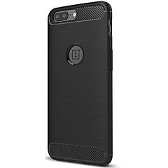 お買い得  その他のケース-ケース 用途 OnePlus つや消し バックカバー 純色 ソフト カーボンファイバー のために One Plus 5