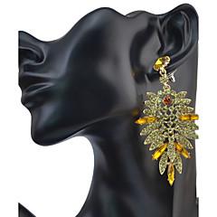 preiswerte Ohrringe-Damen Tropfen-Ohrringe - Krystall, Strass Freunde Erklärung, Personalisiert, Luxus Gelb / Grün / Blau Für Party Jahrestag Geburtstag / Quaste / überdimensional
