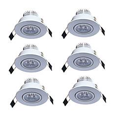 halpa Sisävalaisimet-JIAWEN 3W 3 LEDit Upotetut valaisimet Lämmin valkoinen Kylmä valkoinen AC85-265V