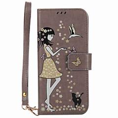 olcso Galaxy S3 tokok-Case Kompatibilitás Samsung Galaxy S8 Plus S8 Kártyatartó Pénztárca Állvánnyal Foszforeszkáló Flip Minta Héjtok Szexi lány Kemény PU bőr