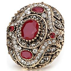 Women's Statement Rings Ring Crystal Basic Unique Design Rhinestone Rhinestones Vintage Bohemian Personalized Euramerican Turkish Luxury