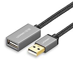 UGREEN USB 2.0 Jatkojohto, USB 2.0 to USB 2.0 Jatkojohto Uros - Naaras 1,0 (3ft)